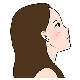 スキンケアの悩みを抱える女性